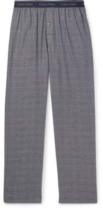 Calvin Klein Underwear Prince Of Wales Checked Cotton-Blend Pyjama Trousers
