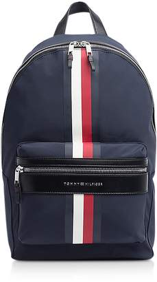 Tommy Hilfiger Tommy Blue Striped Nylon Elevated Backpack