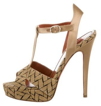 Missoni Chevron Platform Sandals