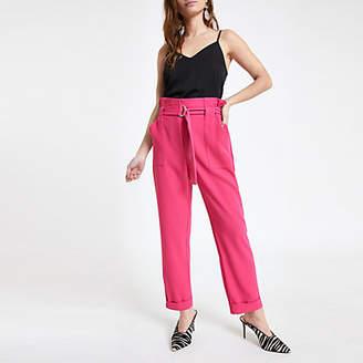 River Island Petite pink belted peg pants