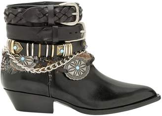 Philosophy di Lorenzo Serafini Multi-buckle Ankle Boots With Feathers