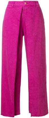 Aalto layered wide leg trousers