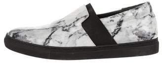 Balenciaga Marble Print Slip-On Sneakers