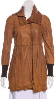 Giorgio Brato Leather Short Coat