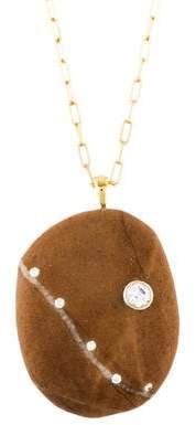 Cvc Stones 18K Diamond Signature Pendant Necklace