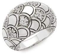 John Hardy Legends Naga Diamond & Sterling Silver Ring