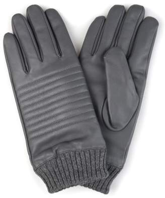 Territory Mens Lined Knit Cuff Genuine Leather Gloves