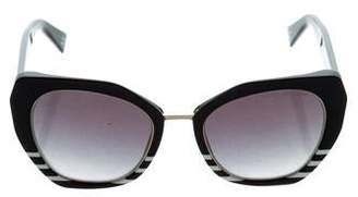 Marc Jacobs Striped Gradient Sunglasses