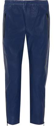 Isabel Marant Colin Leather Slim-Leg Pants