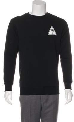 Palm Angels Graphic Print Pullover Sweatshirt