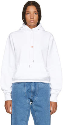 Helmut Lang White Paris Edition Taxi Hoodie