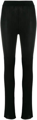 Emilio Pucci ribbed knit trousers