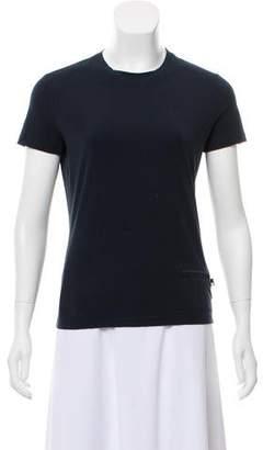 Prada Sport Short Sleeve Crew Neck Top