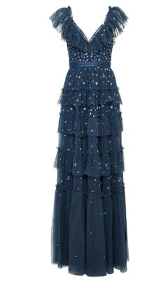 Needle & Thread Sequin-Embellished Tulle Gown