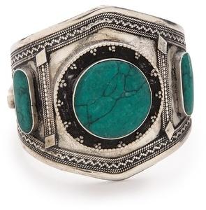 Vanessa Mooney Estelle Malachite Cuff Bracelet