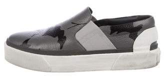 Lanvin Leather Platform Sneakers