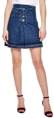 Sandro Blue Vintage Denim Mini Skirt