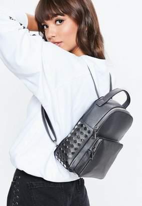 Missguided Black Mini Studded Backpack