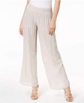 BCX Juniors' Wide-Leg Gauze Soft Pants