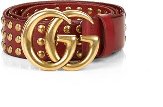 GUCCI GG-logo studded-leather belt $1,100 thestylecure.com