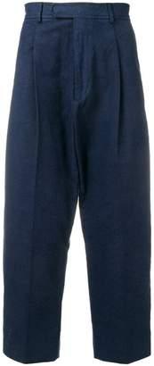 Haider Ackermann cropped drop-crotch trousers