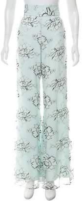Elizabeth Fillmore Lace High-Rise Pants