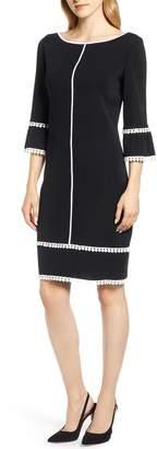 Ming Wang Passementerie Detail Shift Dress