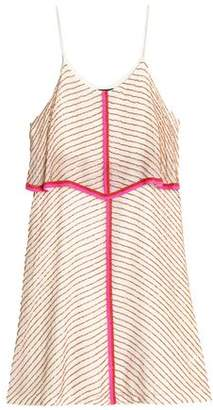 Antik Batik Embellished Striped Mini Dress