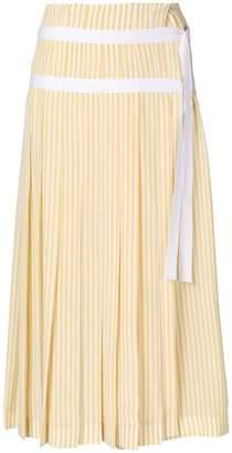 Joseph striped pleated skirt