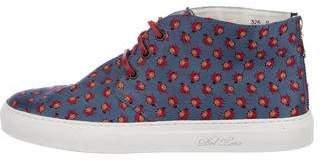 Del Toro Ladybug Print High-Top Sneakers