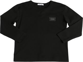 Dolce & Gabbana Logo Tag Cotton Jersey T-Shirt