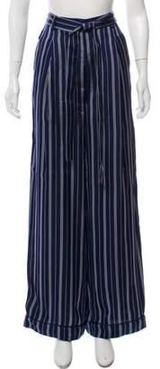 Moncler Wide-Leg Pinstripe Pants