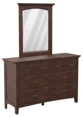 Inspired by Bassett Modern Mission Dresser with Mirror