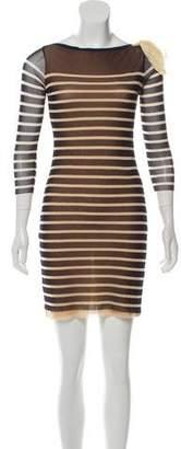 Jean Paul Gaultier Soleil Striped Mesh Dress