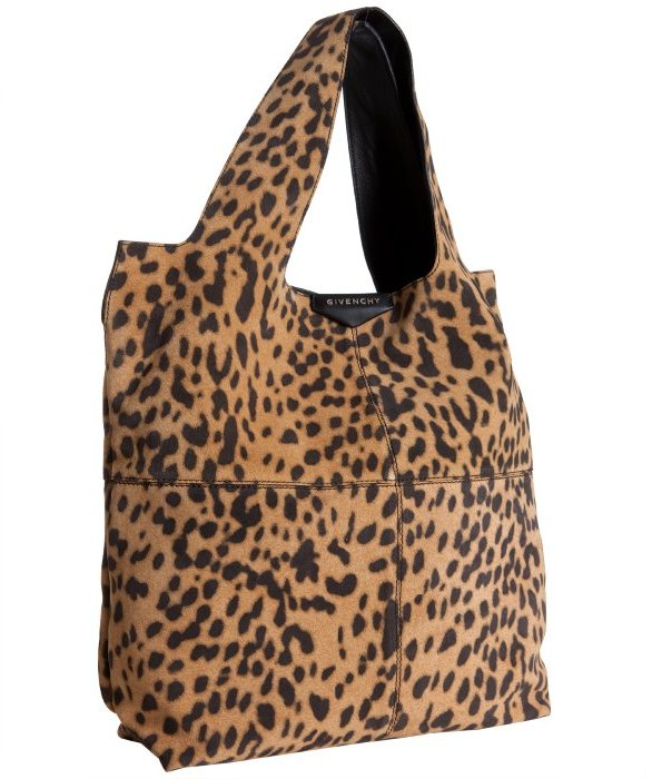 Givenchy leopard print brushed lambskin 'George V' tote