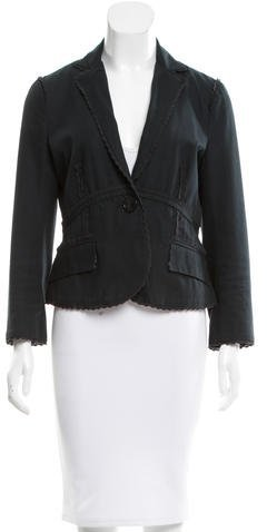 Marc Jacobs Marc Jacobs Scalloped-trim Tapered Blazer