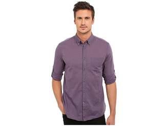 John Varvatos Roll Up Sleeve Shirt w/ Button-Down Collar Single Pocket