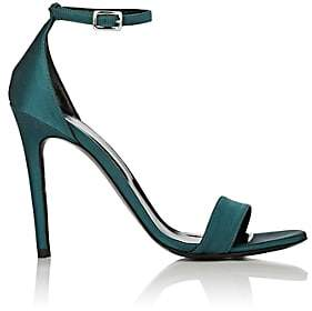 Barneys New York Women's Satin Ankle-Strap Sandals - Turquoise