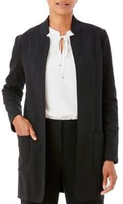 Olsen Long Open-Front Jacket