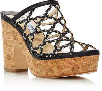 Jimmy Choo Women's Dalina Caged Platform Sandals