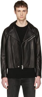 Acne Studios Black Leather Axl Jacket $1,550 thestylecure.com