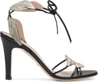 Gucci Leather sandal with leaf details