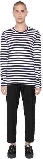 Striped Cotton Jersey T-Shirt 4