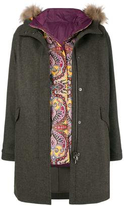 Etro two-in-one parka coat