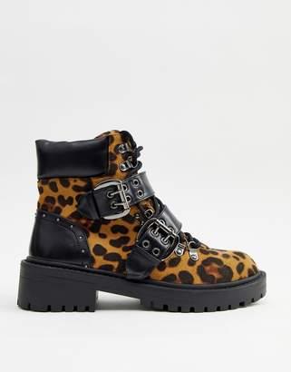 Raid RAID Daelyn chunky leopard print boot