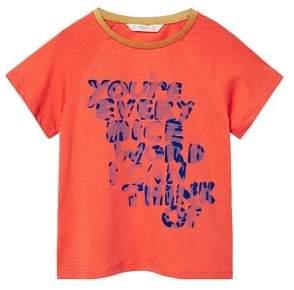 MANGO Velvet message T-shirt