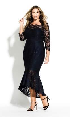 City Chic Citychic Estella Maxi Dress - black