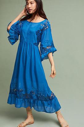 Akemi + Kin Meadow Flutter-Sleeve Dress $188 thestylecure.com