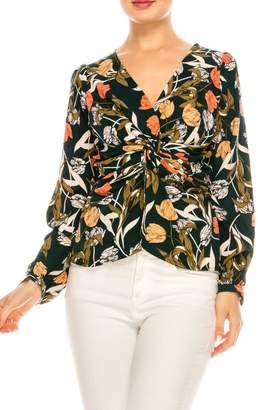 Alythea Dark Floral Blouse