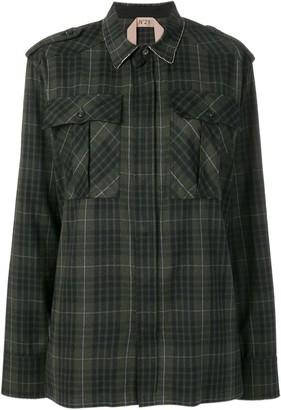 No.21 checked pocket shirt